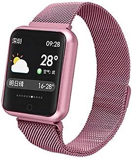 WUAZ Pulsera SportSmart, Impermeable Bluetooth Smart Ver los Deportes de presión Arterial Inteligente Reloj del Ritmo cardíaco Reloj podómetro rastreador de Ejercicios para el iPhone Samsung Android