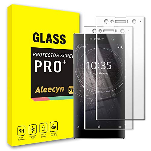 [2 Pack] Screen Protector for Sony Xperia XA2 Ultra, 9H Hardness, Case Friendly, Premium 3D Full Coverage Curved Edges Tempered Glass Screen Protector Film for Sony Xperia XA2 Ultra