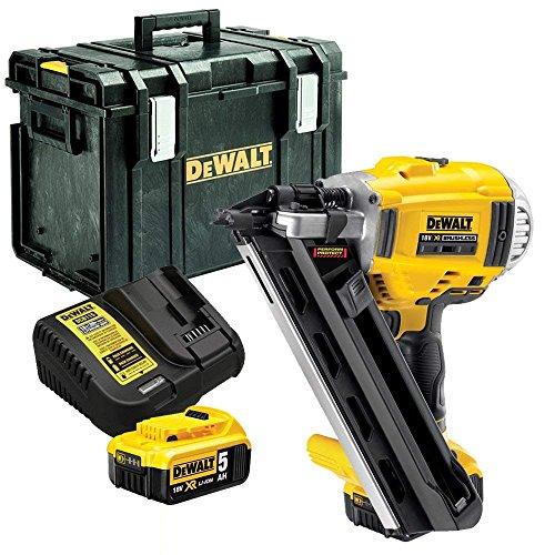 Dewalt DCN692N 18V XR Brushless 90mm First Fix Nailer with 2 x 5Ah...