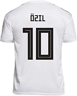 LDFN Mesut Özil #10 Men's Soccer Jersey - Short Sleeve Sports Jersey T-Shirt Fan Shirt (Color : White, Size : XL)