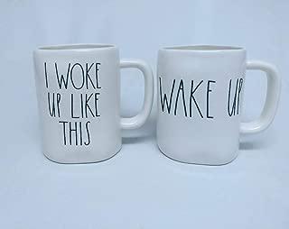 Rae Dunn I Woke Up Like This Cup and Wake Up Set (2) Mugs By Magenta