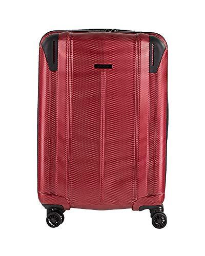 NOWI Vacation L ABS Hartschale Trolley Reisekoffer Gepäck TSA Schloss 4 Doppel-Rollen 55l Volumen (rot)