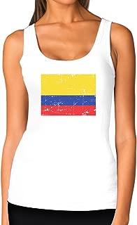 TeeStars - Vintage Colombia Flag Retro Style Colombian Women Tank Top