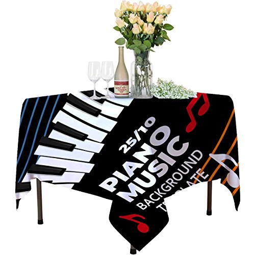 New Music Piano Poster Template Vector Flyer Background with Keyboard Illustration Placard Template ...