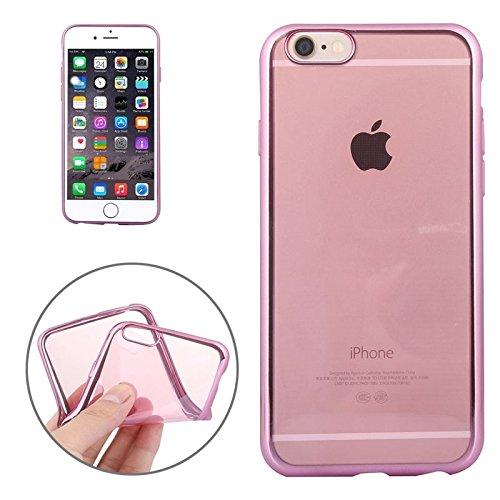 FATEGGS Accesorios para teléfonos móviles Funda TPU de galvanoplastia para iPhone 6 Plus y 6S Plus Casos Cubre (Color : Pink)