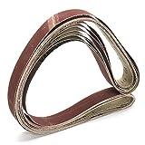 ZGQA-GQA 7pcs 1x42 Pulgadas Mixta Cinturones Grit Set de Lijado 80-1000 Grit óxido de Aluminio Banda de Lijado