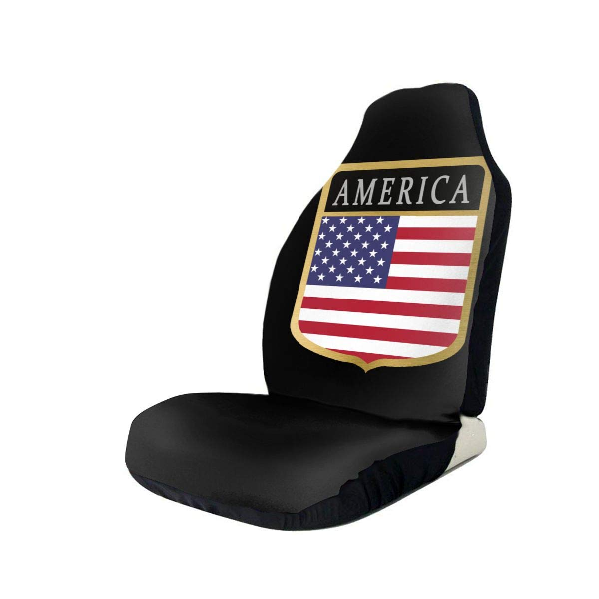 America Flag Genuine Free Shipping Shield Car Seat Covers for Universal Pr Vehicles Raleigh Mall 3D