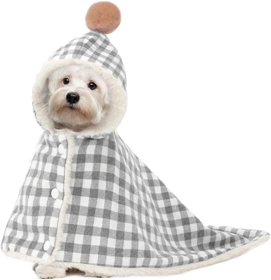 Kuoser Dog Cat Many popular New color brands Cotton Blanket with Fluffy Hat Pet Washable Cloa