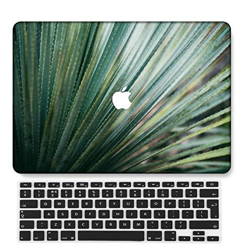 GangdaoCase Plástico Ultra Delgado Ligero Estuche RígidoDiseño Cortado Compatible MacBook Pro 13 Pulgadas Retina Pantalla Sin CD-ROM con UK Cubierta Teclado A1425/A1502 (Serie Rosa 0495)
