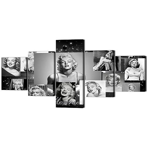 Yatsen Bridge Marilyn Monroe Vintage Black and White Painting on Canvas Retro Wall Art Artwork 5