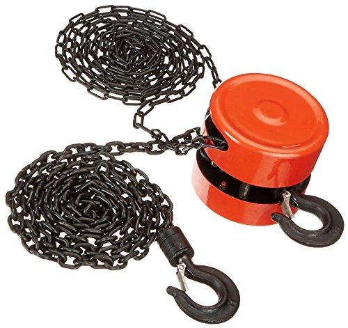 XtremepowerUS 58000 1 Ton Block 8' Chain, Hoist Winch Lift, red/Black