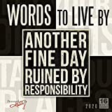 Words to Live by 2020 Wall Calendar