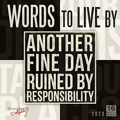 Words to Live by 16-Month 2020 Wall Calendar, 12