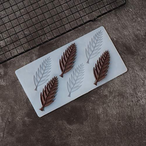 WEIPENG Molde De Plantilla De Chocolate con Forma De Hoja De Diente De Sierra, Molde De Silicona para Decoración De Pasteles, Hoja De Transferencia para Hornear