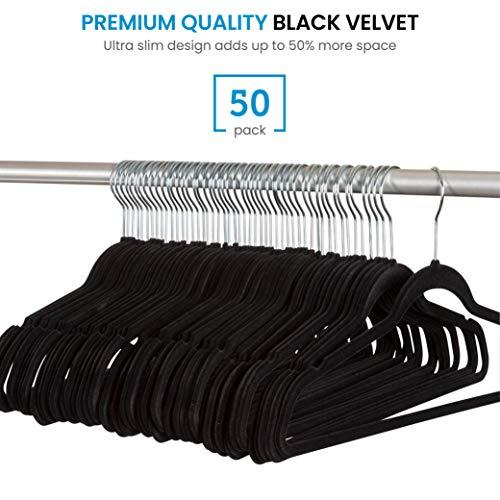 Spring Fever Space Saving Open Ended Heavy Duty Chrome Plating Non Slip Friction Foam Coated Slack Pants Trousers Hangers Black 10