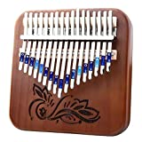Male god 17 Teclas Kalimba Dedo Música Portátil Pulgar Piano Mbira Instrumento Musical Pulgar Arpa Piano Regalo Hongo Gecko Kalimba (Color : 09)