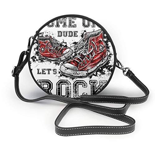 Old Sneakers Rock Graphic Damenhand Runde Crossbody Frau Schulter Menger Tasche Customized Tote