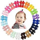 40 stücke 2 'Baby Mädchen Haarbögen Ripsband Bögen Haarspangen Haarspangen für Mädchen Jugendliche Kinder Babys Kleinkind In Paare