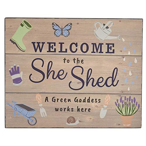 'Welcome to the She Shed' Wooden Sign