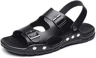 Xujw-shoes, Mens Outdoor Sandals Summer Water Beach Slipper Fisherman Shoes for Men Antislip Dual Buckle Open Toe Stitch Rivet Reinforcement Microfiber Casual