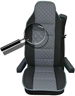 Sitzauflage LKW-Sitz Sitzbezug Sitzkissen grau für  DAF XF LF CF XF105