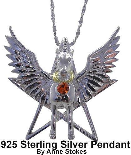 Divine Pegasus for Inspiration Pendant by Ann Stokes (925 Sterling Silber)