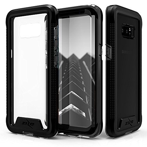Zizo ION Series Compatible with Samsung Galaxy Note 8 Case Military Grade Drop Tested with Tempered Glass Screen Protector Black Smoke