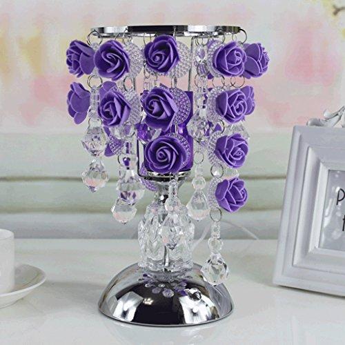 Lámparas de Escritorio Lámparas de Mesa y Mesilla Lámpara de mesa cristalina de las rosas, regalo creativo de la decoración del sitio de la boda, lámpara de tabla casera europea caliente de la ilumina