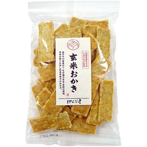 げんぶ堂 玄米おかき(素焼き) 90g×12袋