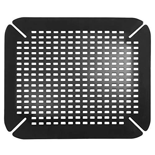InterDesign Basic Spülbeckenmatte, Spülbeckeneinlage aus PVC Kunststoff, schwarz
