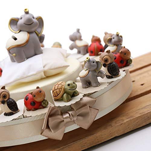 VialeMagico Torta Bomboniere Compleanno con Statuina Animali della Fortuna 20 Bomboniere (TR1101S)