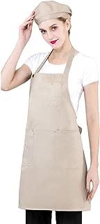 Higger Tabliers de Cuisine avec Poche /Étanche R/églable pour Cuisine Familial Restaurant Barbecue Tablier en Denim Anti-fouling Pratique avec Poche pour Le Travail Tablier de Denim