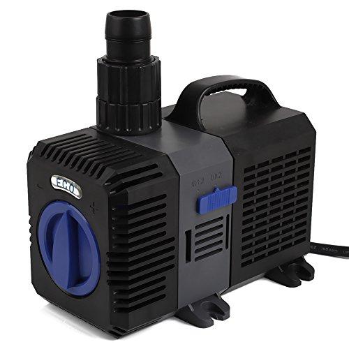 mia.home®] SuperECO Filterpumpe Teichpumpe Energiespar Wasserpumpe Koiteich Bachlaufpumpe (3000L/H,3600L/H,4500L/H,5200L/H,8000L/H,10000L/H) (3000L/H)