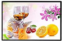 大人のための刺繍キットプレプリントクロスステッチキット赤ワインとフルーツの刺繍写真40x50cmDIYアートクロスステッチキット初心者キッズギフトホームデコレーション、11CTプレプリント
