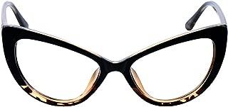 Womens Oversized Fashion Cat Eye Eyeglasses Frame Large Reading Glasses