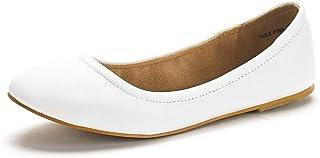 DREAM PAIRS کفش های تخت باله کلاسیک تک کفش FINA Solid Plain Walking
