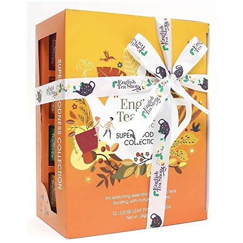 English Tea Shop Assortimento di Tè e Tisane ai Sapori di Frutta e Spezie in Cofanetto Regalo - 1 x 12 Piramidi di Tè (24 Grammi)