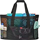 Oahu XL Mesh Beach Bag Tote, Extra Heavy Duty with Zipper, 8 Large...