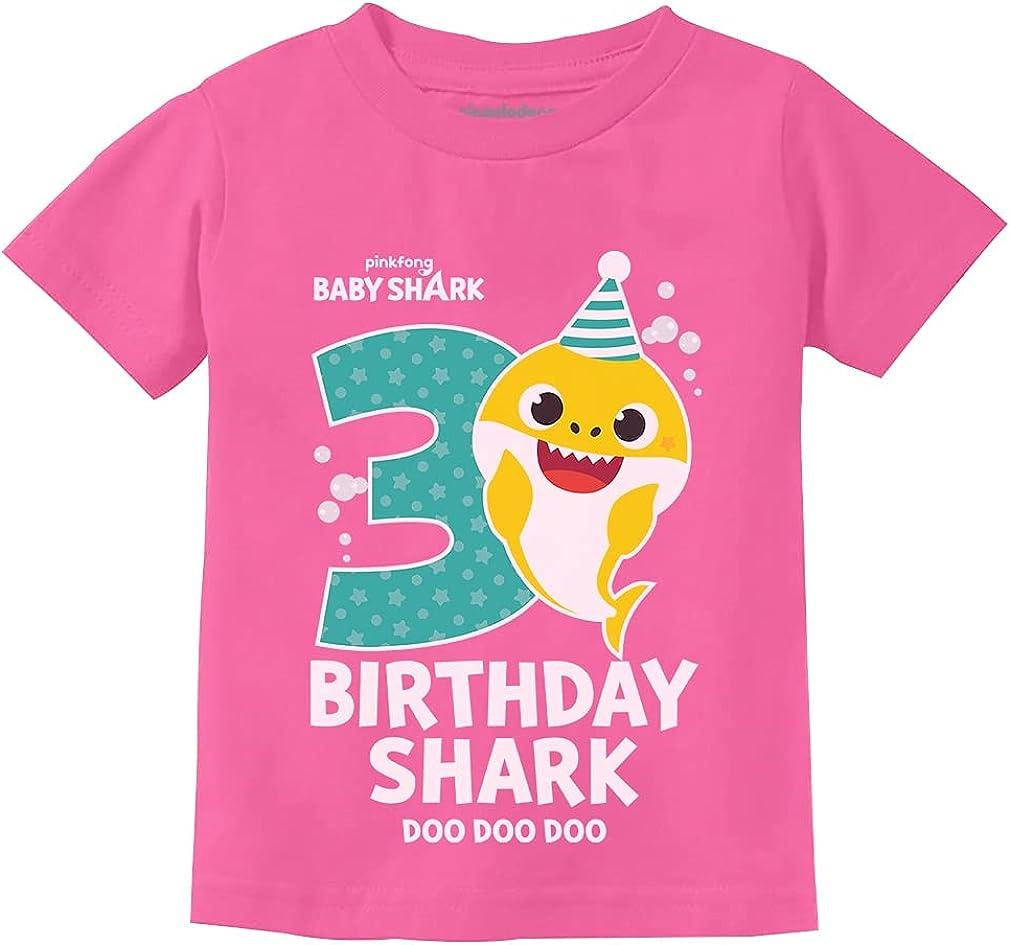 Birthday Shark Shirts for Toddler 2nd 3rd 4th Birthday Boy Girl Baby Shark Shirt