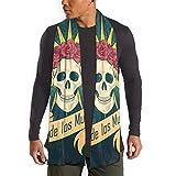 JONINOT Bufanda Vintage Day of The Dead Skull Roses para mujeres hombres ligero Unisex primavera otoño invierno bufandas chal envuelve