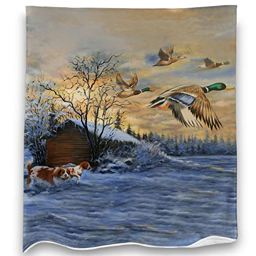 Loong Design Duck Throw Blanket Soft Fluffy Premium Sherpa Fleece Blanket 50'' x 60'' Fit for Sofa Chair Bed Office Travelling Camping Gift