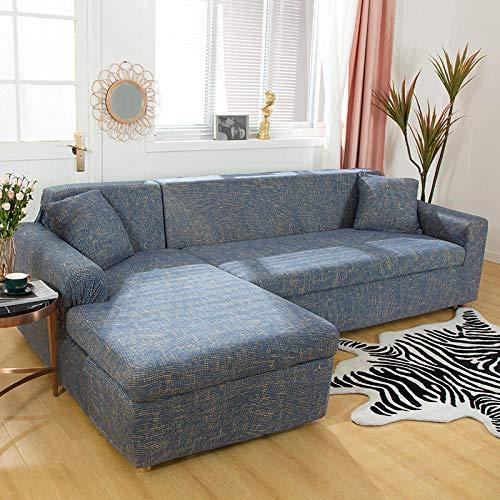 Allenger Stretch Material, Couch/Bed Throw,Schnitte elastische Ecke Schonbezüge Stretch Sofa Handtuch L-Form Chaise Longue-1_145-185cm