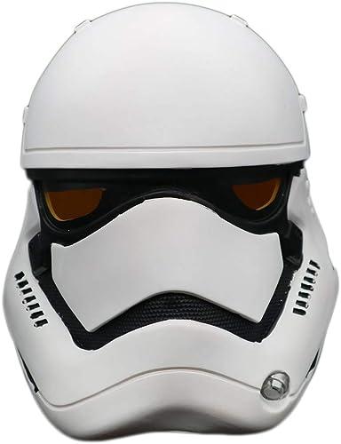 Nihiug Casque de Soldat Blanc Star Wars Masque Force Réveil Casque Hurlevent cos HalFaibleeen Article Couvre-Chef Cosplay, PVC-OneTaille