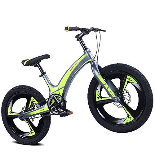 LUO Fahrrad Kinder 'S Fahrrad, Scheibenbremse Single Speed Kinder' S Fahrrad, Magnesiumlegierung 20 Zoll Mountain Student Bike,EIN,20 Zoll