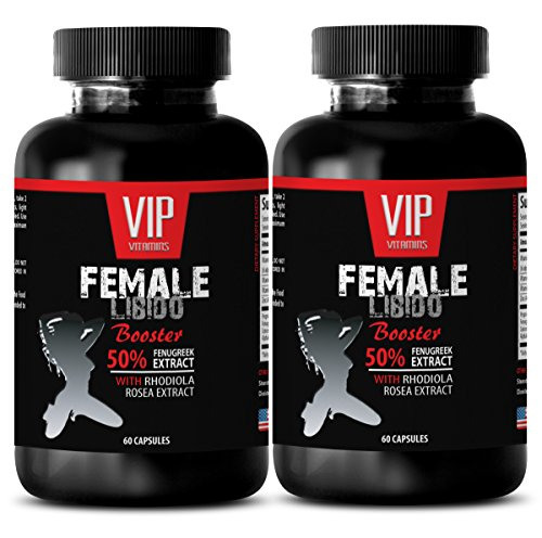 Best Female Sexual Enhancement - Female LIBIDO Booster - Fenugreek libido Women - 2 Bottles 120 Capsules
