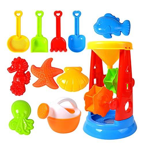 Juego de juguetes de arena para niños y niños pequeños, juguetes de playa para niños, juguetes de arena para niños pequeños, juguetes de playa para niños y niñas de 1, 2 o 3 años de edad