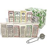 Pack Amantes del Té para regalo y degustación. Con 10 variedades distintas y un infusor de regalo. 10 paquetes de 50 gramos cada uno.