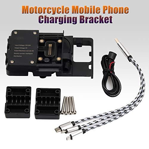 Soporte de motocicleta para teléfonos celulares Soporte de carga Accesorios ajustable anti Shake para BMW R1200 GS LC S1000XR con USB