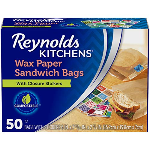 """Reynolds Kitchens Wax Paper Sandwich Bags - 6x7-13/16"""", 50Count"""