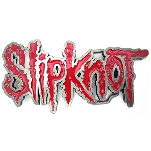 Vintage Slipknot Heavy Metal Rock Band Belt Buckle Music Collectible Red Enamel
